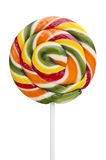 Multicolored lollipop isolated over white Royalty Free Stock Image