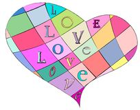 Multicolored loveheart Royalty Free Stock Image