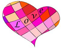 Multicolored loveheart Royalty Free Stock Images