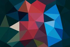 Multicolored low poly background. Abstract polygon design stock illustration