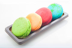 Multicolored macarons Stock Photography