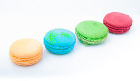 Multicolored macarons Royalty Free Stock Images