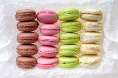 Multicolored macarons Stock Photo