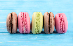 Multicolored macaroon Stock Photography