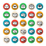 Multicolored mail icons Stock Photo