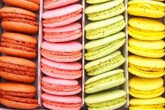 Multicolored makaron Stock Foto