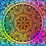 Multicolored mandala. Vector - Illustration - Drawing Royalty Free Stock Photography