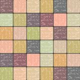 Multicolored Marble Tiles Background in Retro Shades. This Multicolored Marble Tiles background is a beautiful blend of Peach, Mint and Skin undertone perfect Stock Photo