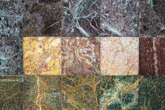 Multicolored Marble Wall Royalty Free Stock Image