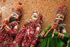 Multicolored marionettes Royalty Free Stock Image