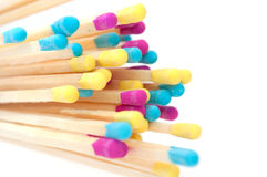 Multicolored Matches Stock Images