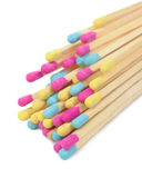 Multicolored Matches on White Background Royalty Free Stock Photo