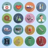 Multicolored medicine icon flat Stock Image