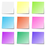 Multicolored memory paper collection isolated Stock Photography