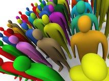 Multicolored menigte #2 vector illustratie