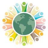Multicolored mensen van het teamwerk vector illustratie