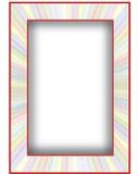 Multicolored met rode grens Royalty-vrije Stock Afbeeldingen