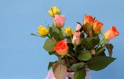 Multicolored mini-rozen Stock Afbeeldingen