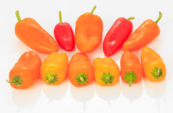 Multicolored Mini Sweet Bell pepper Stock Photos