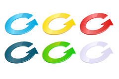 Multicolored  modern arrows Stock Image