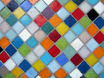 Multicolored mosaic. Multicolored ceramic background royalty free stock photo