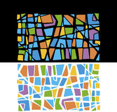 Multicolored mosaic illustration Stock Photography