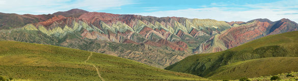 Multicolored mountain known as Serrania del Hornoca Royalty Free Stock Photo