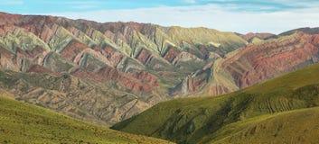 Multicolored mountain known as Serrania del Hornoca Stock Images