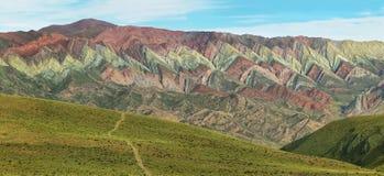 Multicolored mountain known as Serrania del Hornoca Stock Image