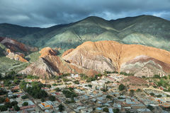 Multicolored mountains known as Cerro de los 7 colores Stock Image
