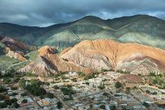Multicolored mountains known as Cerro de los 7 colores Stock Image