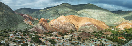 Multicolored mountains known as Cerro de los 7 colores Royalty Free Stock Photo