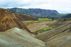 Multicolored mountains at Landmannalaugar, Stock Photos