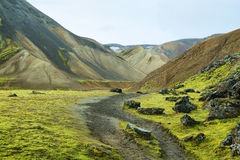 Multicolored mountains at Landmannalaugar Royalty Free Stock Photography