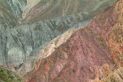 Multicolored mountains near Iruya, Argentina Stock Images