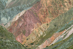 Multicolored mountains near Iruya, Argentina Royalty Free Stock Photography