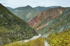 Multicolored mountains near Iruya, Argentina Royalty Free Stock Image