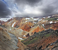 Multicolored mountains with snow Royalty Free Stock Photo