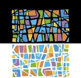 Multicolored mozaïekillustratie Stock Fotografie