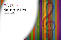 Multicolored Music Background Royalty Free Stock Photos