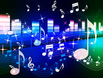 Multicolored Music Background Shows Song RandB Or Blues Royalty Free Stock Photos