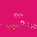 Multicolored music note design Stock Images
