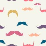 Multicolored mustaches pattern stock photo