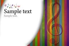 Multicolored muziekachtergrond Royalty-vrije Stock Foto's