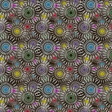 Multicolored naadloos abstract patroon Stock Afbeelding
