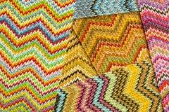 Multicolored naadloze Abstracte Achtergrond van Zig Zag royalty-vrije stock afbeelding