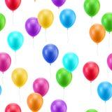 Multicolored naadloze ballons Stock Fotografie