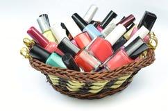 Multicolored nail polish Royalty Free Stock Photos