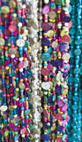 Multicolored necklaces. On bazaar (Tel Aviv, Israel Royalty Free Stock Photo