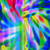 Multicolored neon bright abstract background with colorful stain. S Stock Photo
